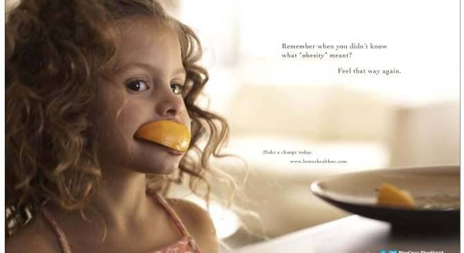 Juicy, Sweet Blue Cross and Blue Shield Ad Brings a Smile While Fighting Obesity