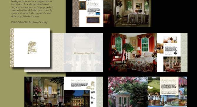 Carolina Inn Story Book Sales Kit Wins Gold Addy Award
