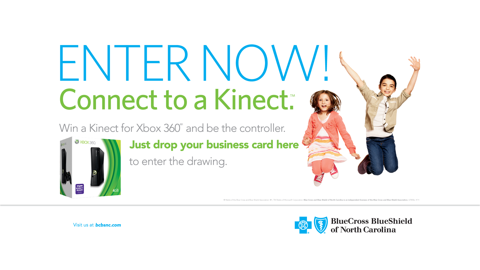 BCBSNC NCSHRM xBox Kinect TV Poster